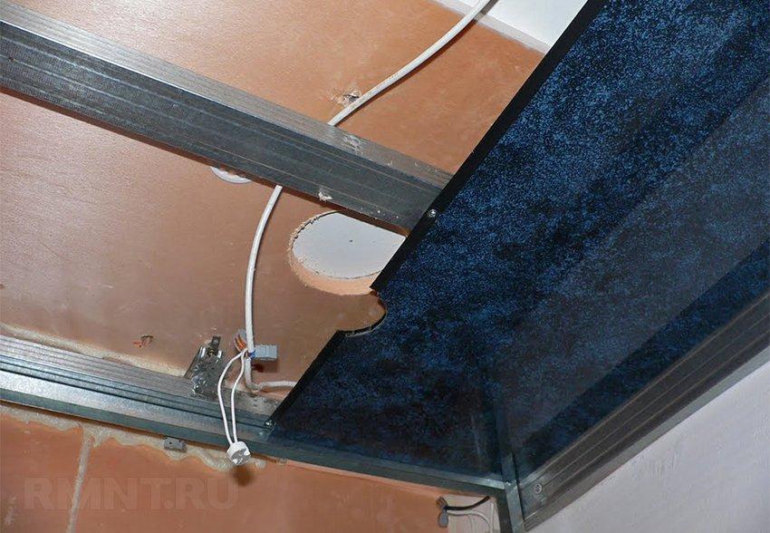 Tavanın plastik paneller ve haysiyeti ile bitirilmesi