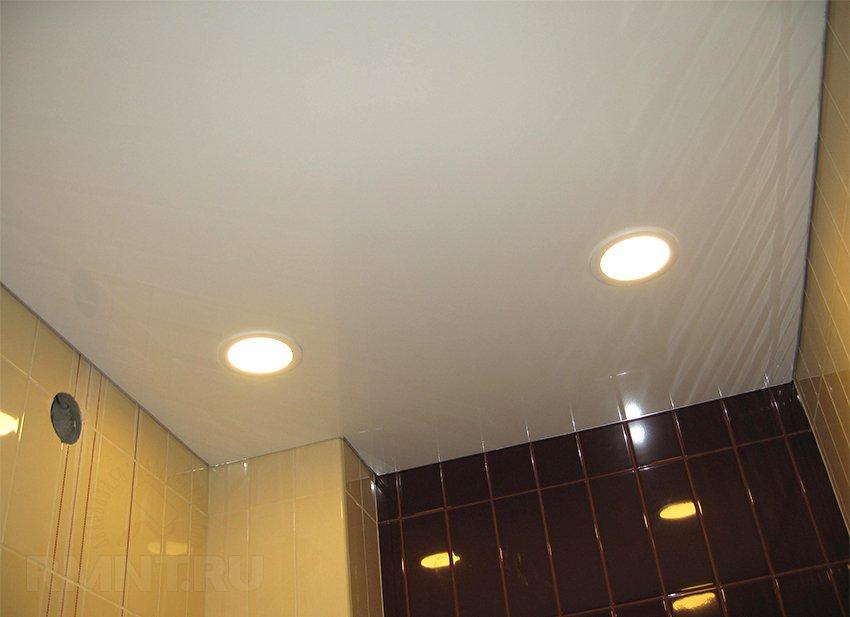 Banyo bitirmek için lamellar astar